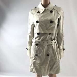 Coach Convertible Trench Coat Double Breasted S